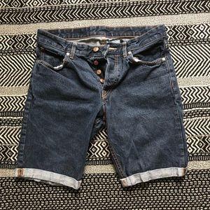 Cuffed Slim Fit Jean Shorts